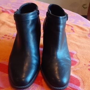 Black Leather Bootie sz 5.5